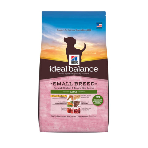 Hill's Ideal Balance Small Breed Natural Chicken & Brown Rice Adult Dry Dog Food 4lb - Kohepets