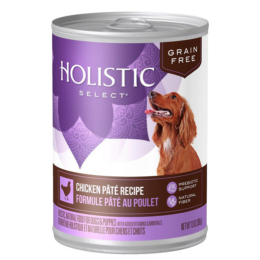 15% OFF: Holistic Select Grain Free Chicken Pate Canned Dog Food 369g