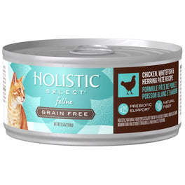 BUY 3 GET 1 FREE: Holistic Select Grain Free Chicken, Whitefish & Herring Pate Canned Cat Food 156g