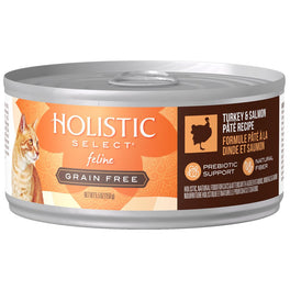 $1  OFF: Holistic Select Grain Free Turkey & Salmon Pate Canned Cat Food 156g