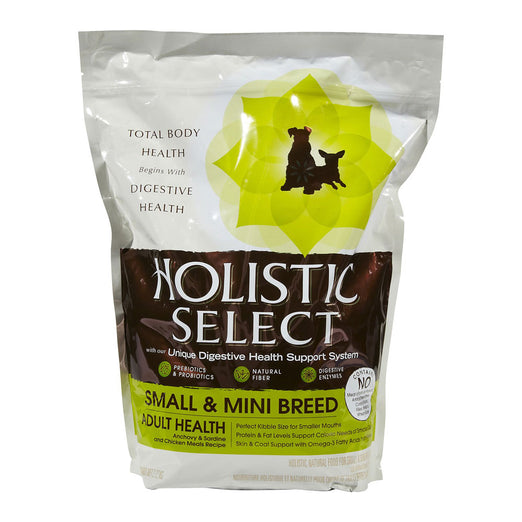 Holistic Select Small & Mini Breed Adult Anchovy & Sardine & Chicken Meals Dry Dog Food 3lb - Kohepets
