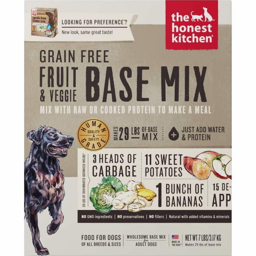 The Honest Kitchen Preference Grain Free Fruit & Veggie Base Mix Dehydrated Dog Food - Kohepets