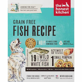 'FREE TREATS': The Honest Kitchen Zeal Grain Free Fish Recipe Dehydrated Dog Food