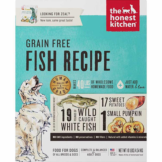 The Honest Kitchen Zeal Grain Free Fish Recipe Dehydrated Dog Food 10lb