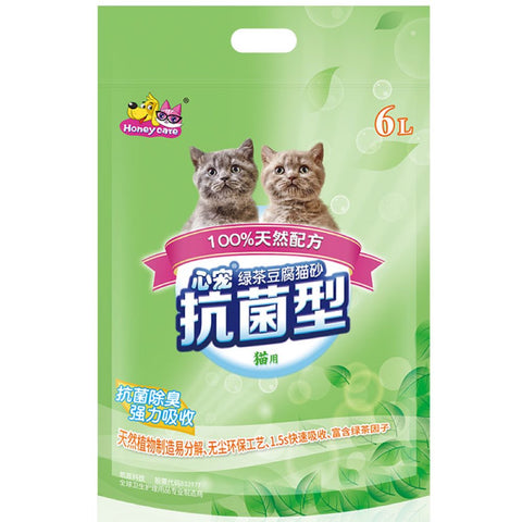 Honey Care Green Tea Tofu Cat Litter 6L - Kohepets