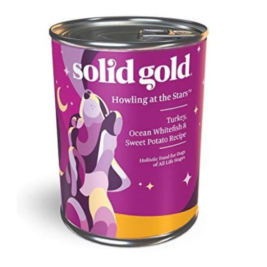 Solid Gold Howling At The Stars Turkey, Ocean Fish & Sweet Potatoes Canned Dog Food 374g