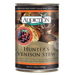 Addiction Hunter's Venison Stew Canned Dog Food 368g