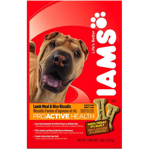 Iams ProActive Health Adult Lamb Meal & Rice Dog Biscuits 300g - Kohepets