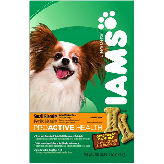 Iams ProActive Health Adult Small Dog Chicken Dog Biscuits 300g