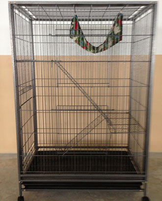 Powder Coated Cast Iron 3 Level Cat Cage Hammerspray