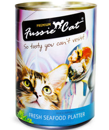 Fussie Cat Fresh Seafood Platter Canned Cat Food 400g