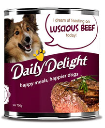 Daily Delight Luscious Beef Canned Dog Food 700g