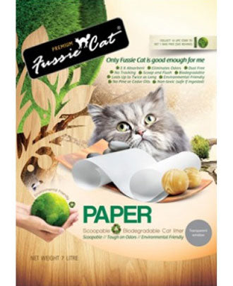 Fussie Cat Natural Paper Cat Litter 7L