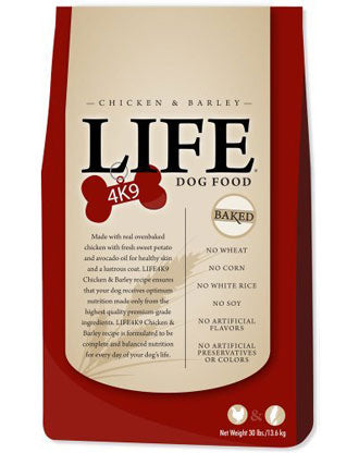 Life4K9 Chicken & Barley Baked Dry Dog Food - Kohepets