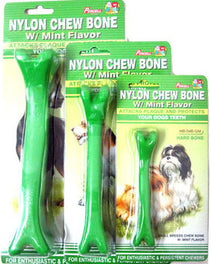 10% OFF: Percell Nylon Green Mint Chew Hard Bone Medium
