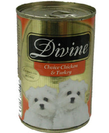Divine Classic Gold Selection Choice Chicken & Turkey Canned Dog Food 680g