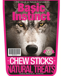 Basic Instinct Chew Sticks Natural Dog Treats 200g