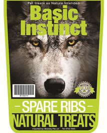 Basic Instinct Spare Ribs Natural Dog Treats 200g