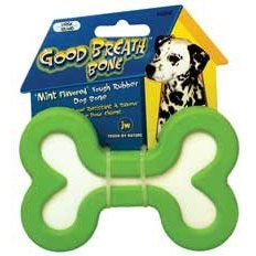 JW Good Breath Bone Rubber Dog Toy Medium