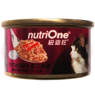 Nutri One Tuna With Kanikama Canned Cat Food 85g