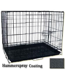 B2K Foldable Dog Cage With Pan Base Hammer Spray