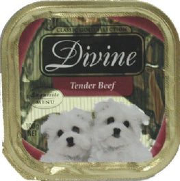 Divine Classic Gold Selection Tender Beef Tray Dog Food 100g