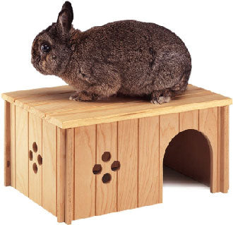 Ferplast Sin 4646 Wooden House For Rodents - Large