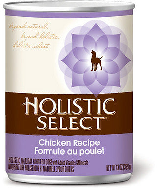 Holistic Select Chicken With Oat Bran Canned Dog Food 368g - Kohepets