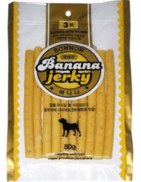 Bow Wow Banana Jerky Dog Treat 80g
