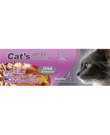 Cat's Agree White Meat Tuna & Katsuobushi Canned Cat Food 80g