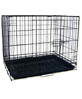 Sweety Foldable Dog Cage With Pan Base Black