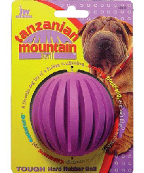JW Tanzanian Mountain Ball Rubber Dog Toy Small