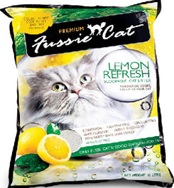 Fussie Cat Lemon Refresh Scoopable Cat Litter 10L