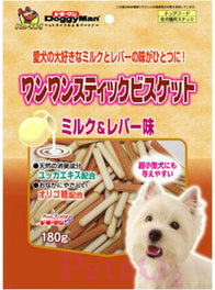 Doggyman Chicken Liver & Milk Stick Biscuit 180g
