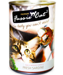 Fussie Cat Fresh Sardine Canned Cat Food 400g