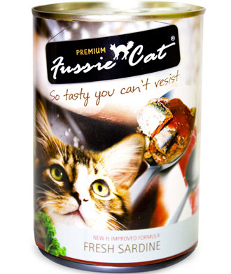 Fussie Cat Fresh Sardine Canned Cat Food 400g - Kohepets