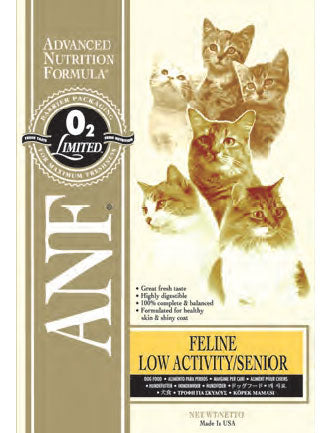 ANF Senior Low Activity Formula Dry Cat Food