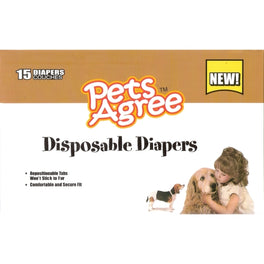Pets Agree Disposable Diapers - Large 15ct