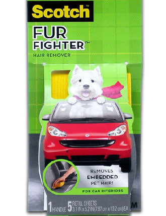 30% OFF: 3M Scotch Fur Fighter Pet Hair Remover For Car Interior - Kohepets