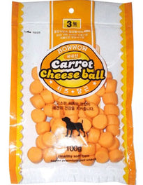 Bow Wow Carrot Cheese Ball Dog Treat 100g