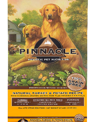 Pinnacle Holistic Grain Free Turkey & Potato Dry Dog Food