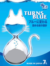 QQKIT Recyclable Paper Cat Litter Turn Blue 7L