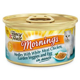Fancy Feast Mornings Medley White Meat Chicken, Veggies & Egg Canned Cat Food 85g