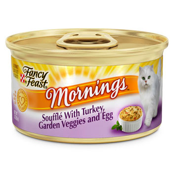 Fancy Feast Mornings Souffle Turkey, Veggies & Egg Canned Cat Food 85g