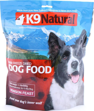 K9 Natural Freeze Dried Venison Feast Raw Dog Food