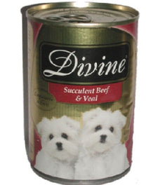 Divine Classic Gold Selection Succulent Beef & Veal Canned Dog Food 680g