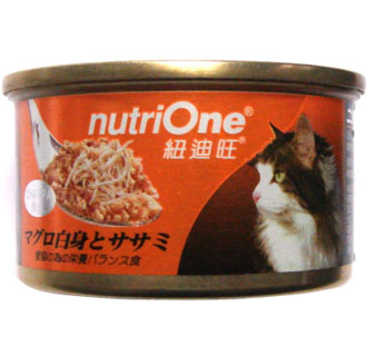 Nutri One Tuna With Sasami Canned Cat Food 85g