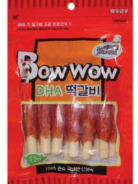 Bow Wow Pork Roll Meat Stick Dog Treat 6ct
