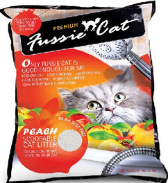 Fussie Cat Peach Scoopable Cat Litter 10L