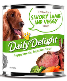 Daily Delight Savory Lamb And Veggy Canned Dog Food 700g